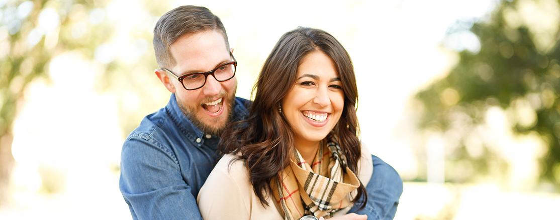 Couple Smiling Custom Whitening Tray